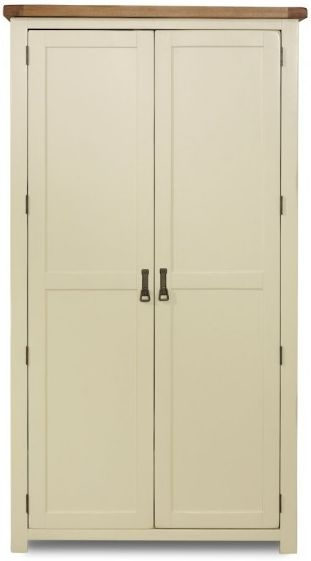 Birlea New Hampshire Cream and Oak Wardrobe - 2 Door
