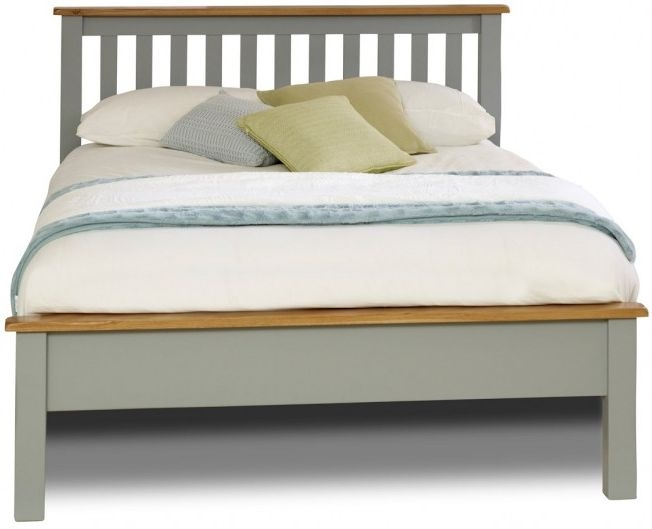 Birlea New Hampshire Grey and Oak Bed - Low Foot End