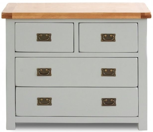 Birlea New Hampshire Grey and Oak Chest of Drawer - 2+2 Drawer