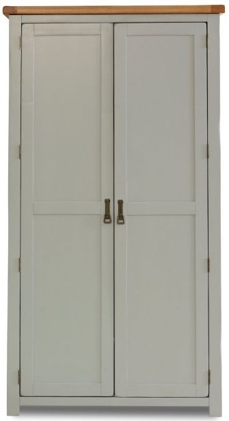 Birlea New Hampshire Grey and Oak Wardrobe - 2 Door