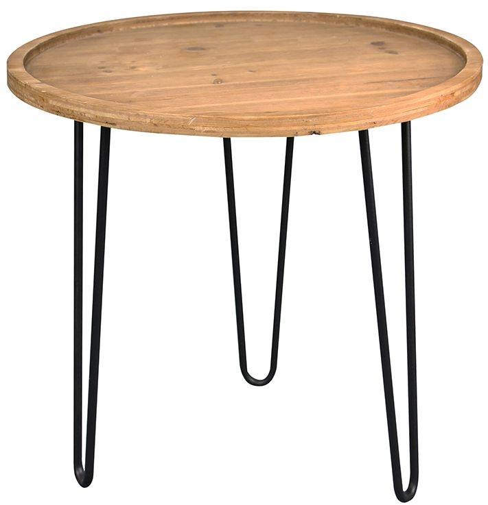 Birlea Sirkka Coffee Table - Natural Fir Wood and Black
