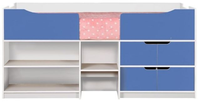Birlea Paddington White and Blue Cabin Bed