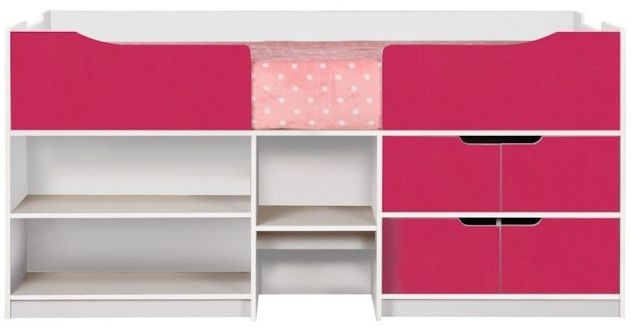 Birlea Paddington White and Pink Cabin Bed
