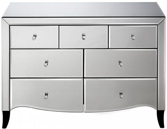 Birlea Palermo Mirrored 4+3 Drawer Chest