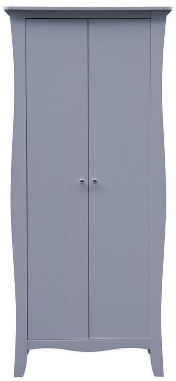 Birlea Paris Grey 2 Door Wardrobe