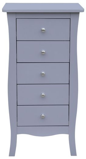 Birlea Paris Grey 5 Drawer Medium Chest
