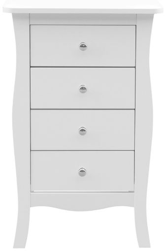 Birlea Paris White 4 Drawer Small Chest