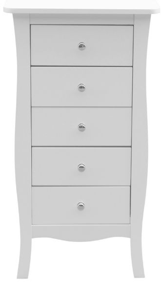 Birlea Paris White 5 Drawer Medium Chest