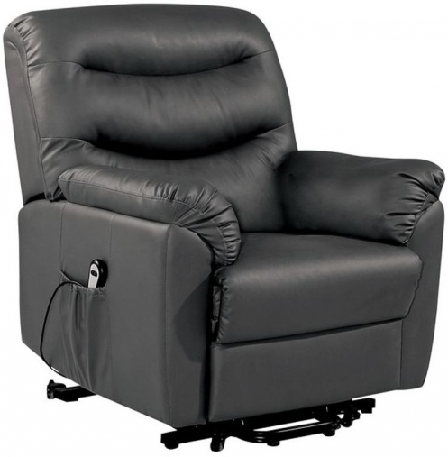 Birlea Regency Black Faux Leather Rise and Recliner Chair