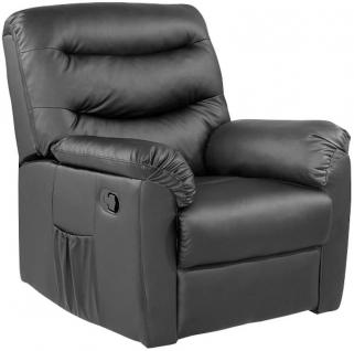 Birlea Regency Black Faux Leather Recliner Chair