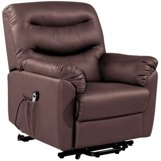 Birlea Regency Brown Faux Leather Rise and Recliner Chair