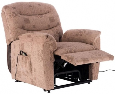 Birlea Regency Wheat Fabric Rise and Recline Chair