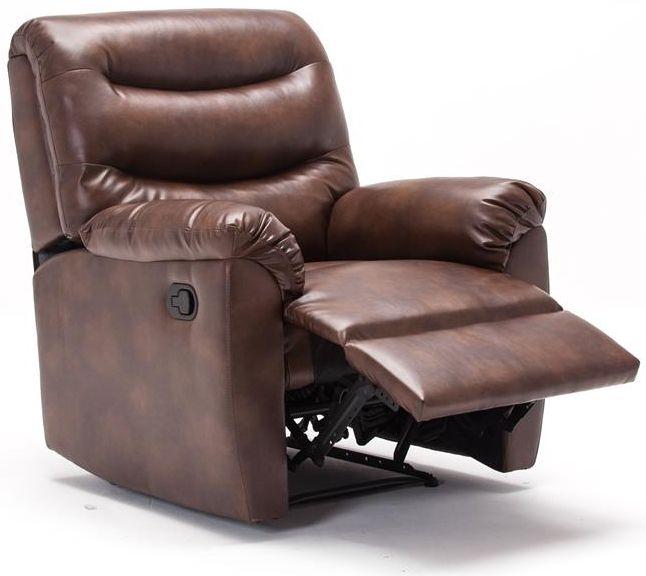 Birlea Regency Bronze Brown Faux Leather Recliner Chair