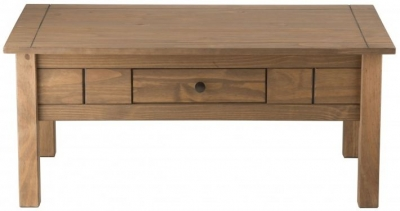 Birlea Santiago Pine Coffee Table - 1 Drawer