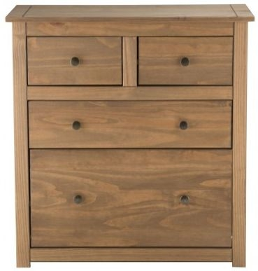 Birlea Santiago Pine Chest of Drawer - 2+2 Drawer