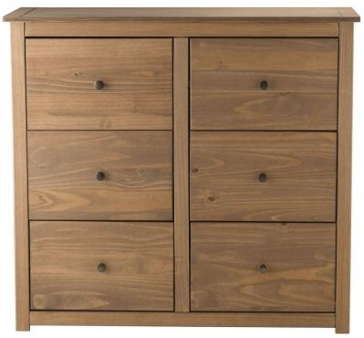 Birlea Santiago Pine Chest of Drawer - 6 Drawer