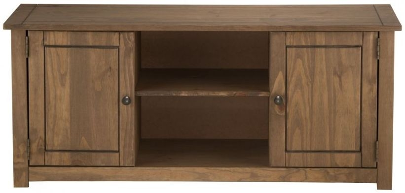 Birlea Santiago Pine TV Unit - 2 Door 1 Shelf