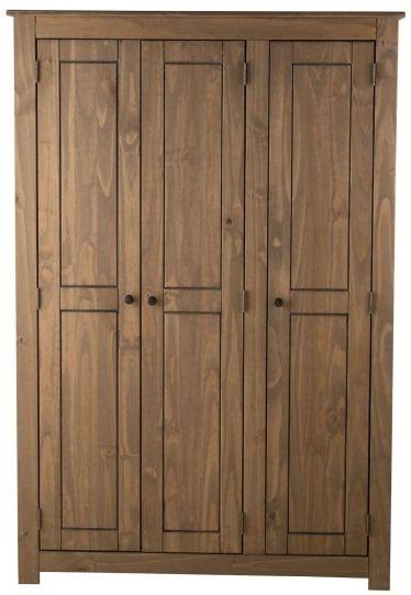 Birlea Santiago Pine Wardrobe - 3 Door