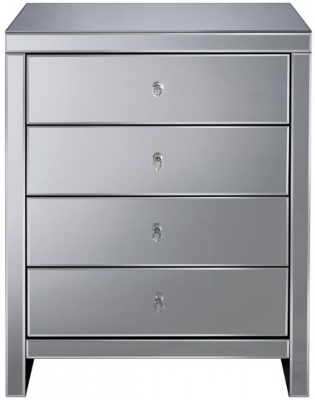 Birlea Seville Mirrored 4 Drawer Chest