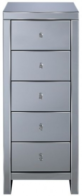 Birlea Seville Mirrored 5 Drawer Chest