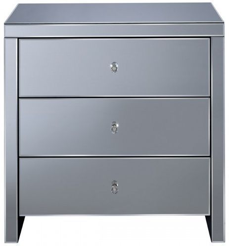 Seville Mirrored Chest of Drawer - 3 Drawer