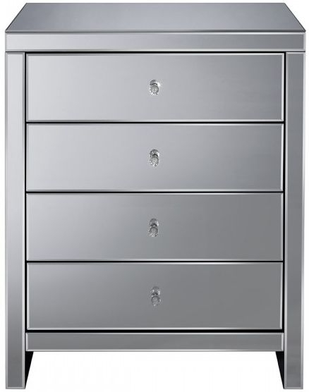 Seville Mirrored Chest of Drawer - 4 Drawer