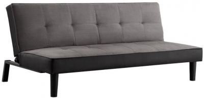 Birlea Aurora Grey Velvet 2 Seater Sofa Bed