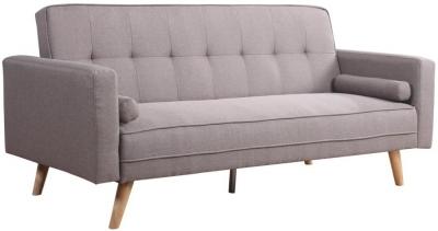 Birlea Ethan Grey Fabric 3 Seater Sofa Bed