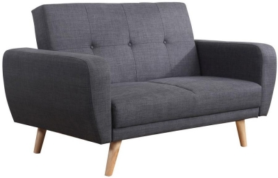 Birlea Farrow Grey Fabric 2 Seater Sofa Bed