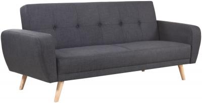 Birlea Farrow Grey Fabric 3 Seater Sofa Bed