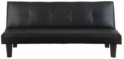 Birlea Franklin Black Faux Leather Sofa Bed