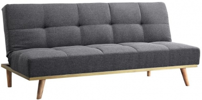 Birlea Snug Grey Fabric 3 Seater Sofa Bed
