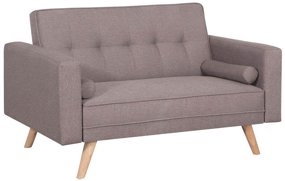 Birlea Ethan Grey Fabric 2 Seater Sofa Bed