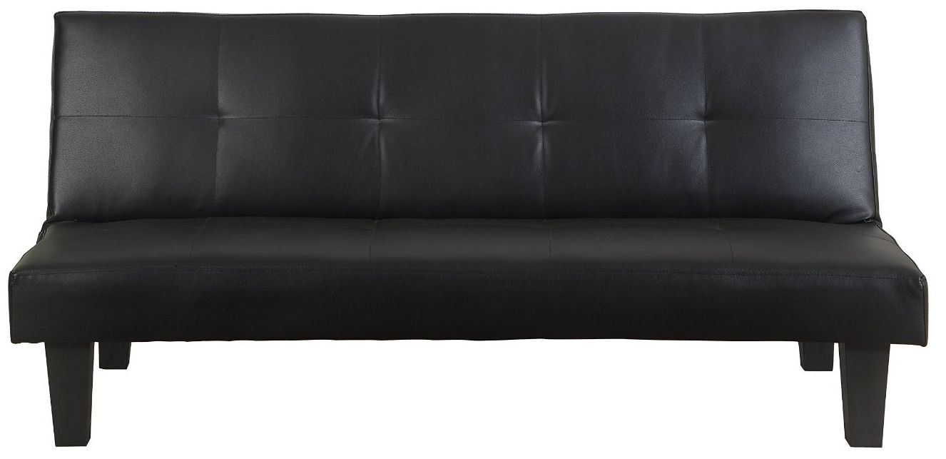 Birlea Franklin Black Faux Leather Sofa Bed Cfs Furniture Uk
