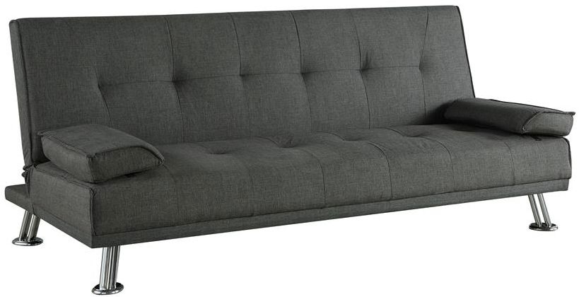 Birlea Logan Grey Fabric 3 Seater Sofa Bed