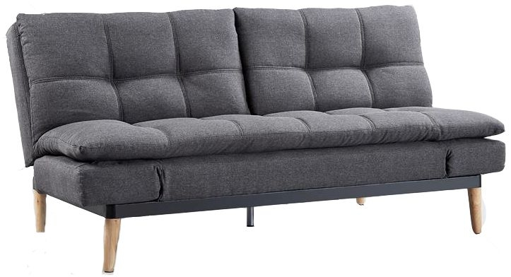 Birlea Squish Grey Fabric 2 Seater Sofa Bed