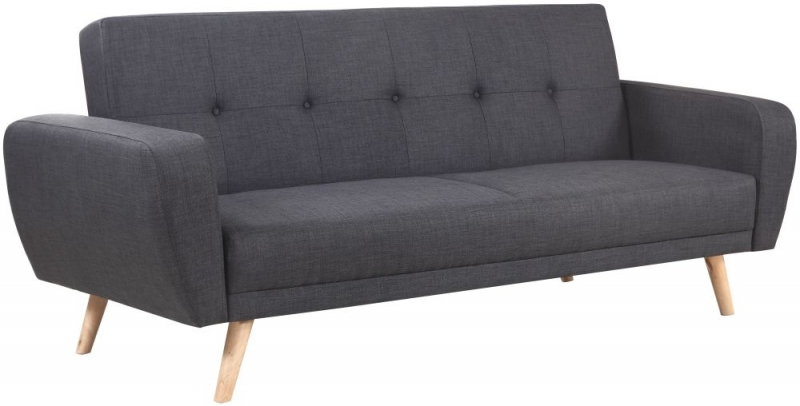 Birlea Farrow Grey Fabric 3 Seater Sofa Bed
