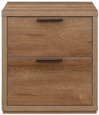 Birlea Stockwell Oak 2 Drawer Bedside Cabinet