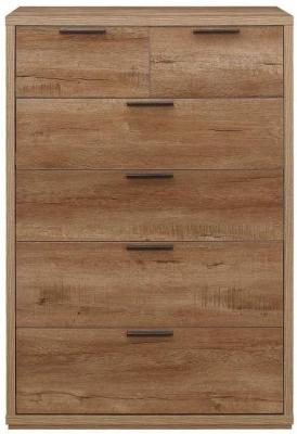 Birlea Stockwell Oak 4+2 Drawer Medium Chest