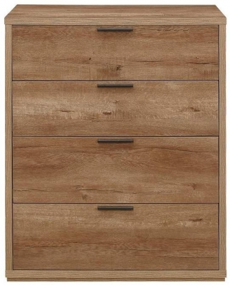 Birlea Stockwell Oak 4 Drawer Small Chest