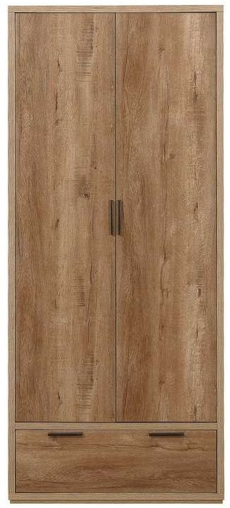 Birlea Stockwell Oak 2 Door 1 Drawer Wardrobe