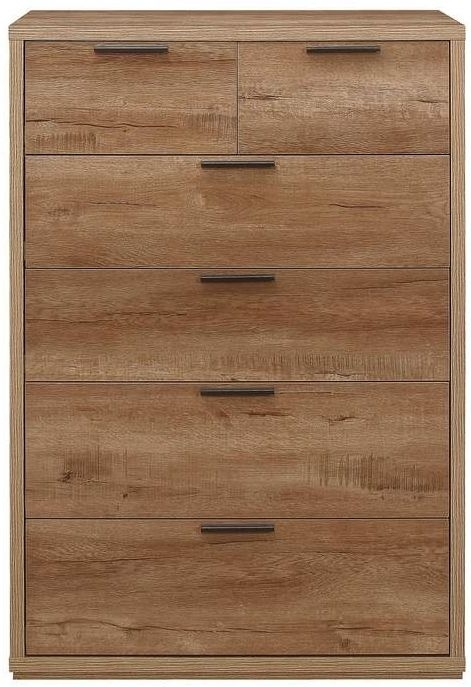 Birlea Stockwell Oak 4+2 Drawer Medium Chest