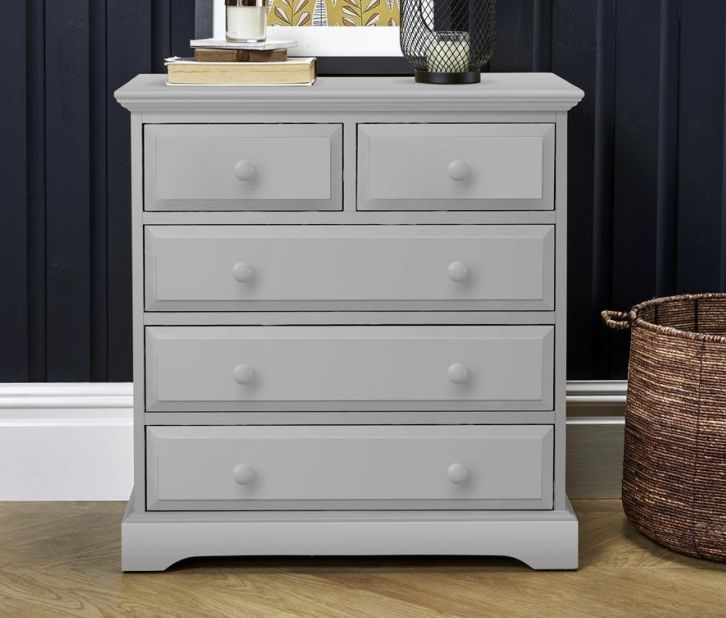 Suffolk Dove Grey Chest of Drawer - 3+2 Drawer