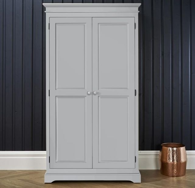 Suffolk Dove Grey Double Wardrobe - 2 Door