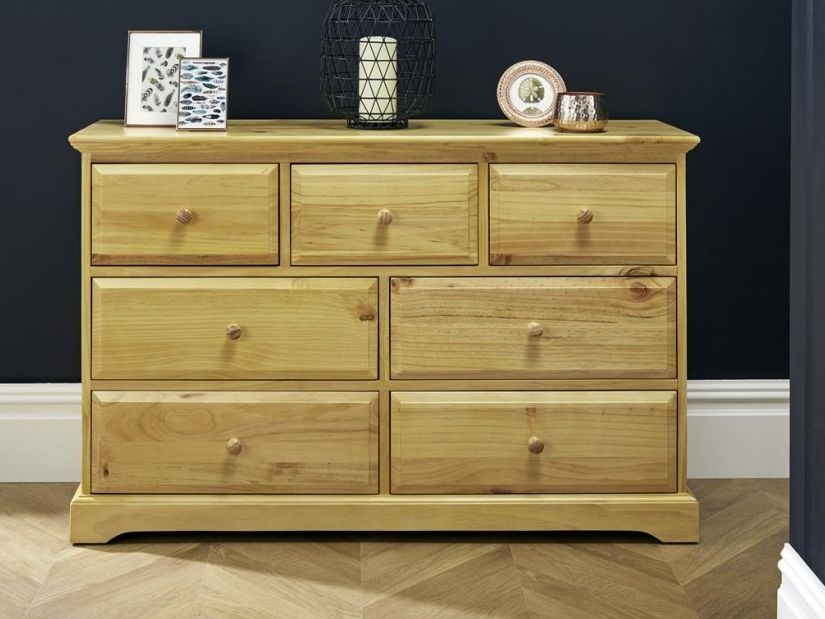 Suffolk Natural Pine Chest of Drawer - 4+3 Drawer