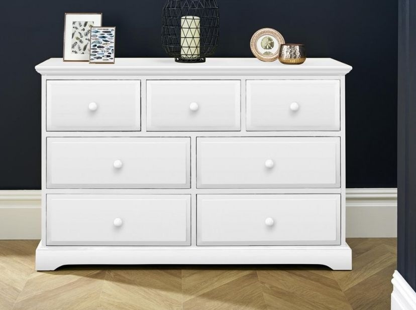 Suffolk White Chest of Drawer - 4+3 Drawer