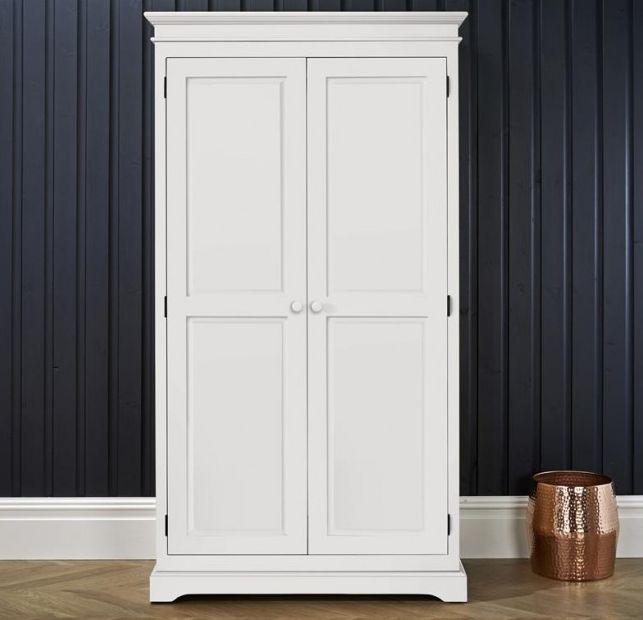Suffolk White Double Wardrobe - 2 Door