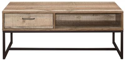 Birlea Urban Rustic Storage Coffee Table with Metal Frame