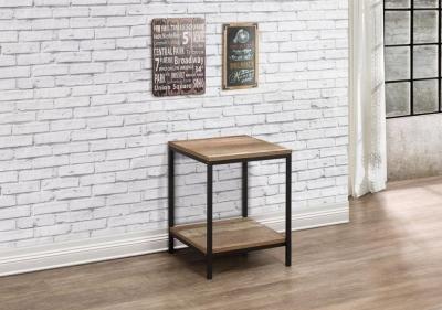 Birlea Urban Rustic Lamp Table with Metal Frame