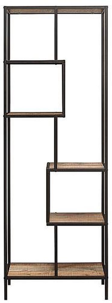 Birlea Urban Rustic Tall Shelving Unit with Metal Frame